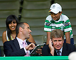 Paul Le Guen watching from the stand at Celtic Park after being appointed manager of Rangers