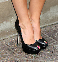 "June 06, 2012: Close up of Kendra Wilkinson-Baskett's peeptoe shoes while at the Empire State Building in New York City to promote her reality tv series ""Kendra on Top"". © RW/MediaPunch Inc. ***NO GERMANY***NO AUSTRIA***"