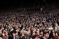 Milano: manifestazione organizzata da Giustizia e Libertà per chiedere le dimissioni di Silvio Berlusconi. .Milan: Giustizia e Libertà (Justice & Freedom) protest against Italian Prime Minister Silvio Berlusconi. Some 10,000 people attended the protest.