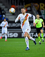 GENT, BELGIUM - FEBRUARY 27 :  Edin Dzeko forward of AS Romaduring the UEFA Europa League Round of 32, 2nd leg match between KAA Gent and AS Roma at the Ghelamco Arena on February 27, 2020 in Gent, Belgium, 27/02/2020 <br /> Photo by Philippe Crochet / Photo News / Panoramic / Insidefoto <br /> ITALY ONLY