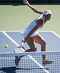Caroline Wozniacki (DEN) defeats Agnieszka Radwanska (POL) 6-4, 7-6(5) at the Western & Southern Open in Mason, OH on August 15, 2014.