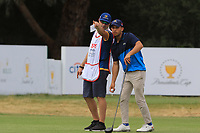 Adam Wahbi (International) on the 2nd tee during the ISPS HANDA Disabled Golf Cup at the Presidents Cup 2019, Royal Melbourne Golf Club, Melbourne, Victoria, Australia. 13/12/2019.<br /> Picture Thos Caffrey / Golffile.ie<br /> <br /> All photo usage must carry mandatory copyright credit (© Golffile   Thos Caffrey)