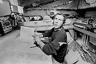 "07 Jul 1972, Newport, Newport County Borough, Wales, UK. French navigator Alain Colas aboard his trimaran Pen Duick IV during the Transat Plymouth-Newport race. He will rename the trimaran, which was previously owned by Eric Tabarly, Manureva. Colas would disappear in the Atlantic in November 1978 whilst competing in the first ""Route du Rhum"" race. Image by © JP Laffont"