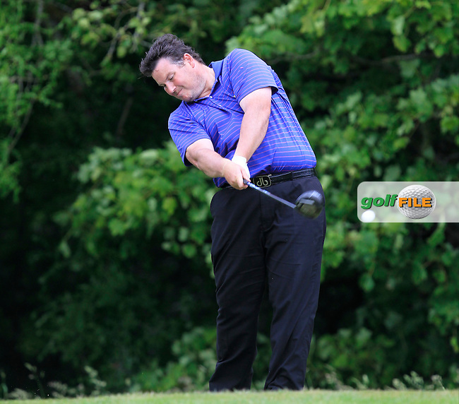 Andrew Norrby (Balmoral) on the 14th tee during Round 2 of the Irish Mid-Amateur Open Championship at New Forest on Saturday 20th June 2015.<br /> Picture:  Thos Caffrey / www.golffile.ie