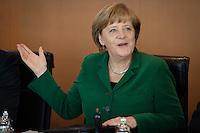 Berlin,  Bundeskanzlerin Angela Merkel (CDU), zu Beginn der Kabinettssitzung, Kanzleramt, Deutschland - April 17. (Photo by Maja Hitij/commonlens)