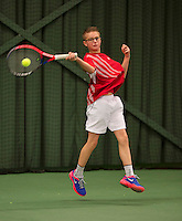March 8, 2015, Netherlands, Rotterdam, TC Victoria, NOJK, Kaj van den Heuvel (NED)<br /> Photo: Tennisimages/Henk Koster
