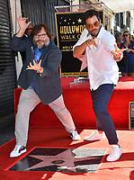 LOS ANGELES, CA. September 18, 2018: Jack Black & director Eli Roth at the Hollywood Walk of Fame Star Ceremony honoring actor Jack Black.