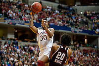 INDIANAPOLIS, IN - APRIL 3, 2011: Nnemkadi Ogwumike looks for two at Conseco Fieldhouse during the NCAA Final Four against Texas A&M in Indianapolis, IN on April 1, 2011.