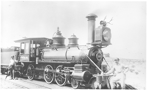 Engine #163 at an unidentified location.<br /> D&amp;RG