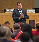 Houston ISD Superintendent Dr. Terry Grier comments during the Principal meeting, December 3, 2014.