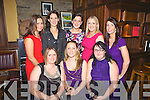 30th birthday celebrations for Maria Leahy(centre) from Brosna pictured here with close friends last Saturday night in Leen's Hotel, Abbeyfeale. F l-r: Linda O'Connor, Maria Leahy, Lisa Quille. B l-r: Mary Horgan, Emma Brown, Denise Curtin, Joanne O'Connor and Noreen Curtin.