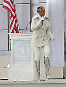 "Washington, DC - January 18, 2009 -- Mary J. Blige performs at the ""Today: We are One - The Obama Inaugural Celebration at the Lincoln Memorial"" in Washington, D.C. on Sunday, January 18, 2009..Credit: Ron Sachs / CNP.(RESTRICTION: NO New York or New Jersey Newspapers or newspapers within a 75 mile radius of New York City)"