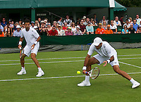 England, London, 25.06.2014. Tennis, Wimbledon, AELTC, Jean-Julien Rojer (NED) with his doubles partner Horia Tecau (ROU) (R)<br /> Photo: Tennisimages/Henk Koster