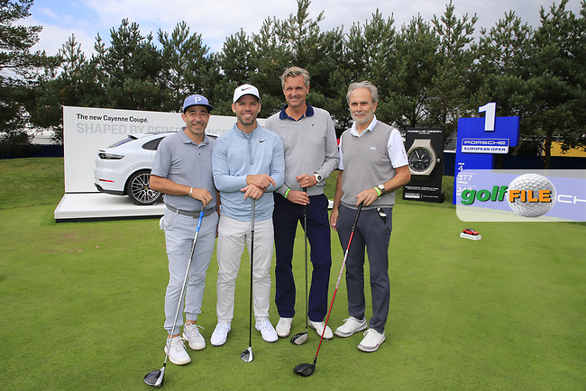 Paul Casey (ENG) team during the Pro-Am at the  Porsche European Open, Green Eagles Golf Club, Luhdorf, Winsen, Germany. 04/09/2019.<br /> Picture Fran Caffrey / Golffile.ie<br /> <br /> All photo usage must carry mandatory copyright credit (© Golffile | Fran Caffrey)