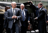 United States Vice President-elect Mike Pence arrives outside of Trump Tower on December 5, 2016 in New York City. U.S. President-elect Donald Trump is still holding meetings upstairs at Trump Tower as he continues to fill in key positions in his new administration.   <br /> Credit:John Angelillo / Pool via CNP