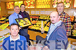 Congratulations to Horan's Fruit and Veg, Clash, Tralee who received a national award for the Best Fruit Display 2010. PICtured from l-r were: Brian Renaghan (Fyffes Ireland), Donal O'Connor (Total Produce Tralee), Anthony Clifford (Store Manager), Dan Horan and Mike Leahy (Regional Manager).