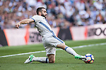 Daniel Carvajal Ramos of Real Madrid in action during their La Liga match between Real Madrid and Atletico de Madrid at the Santiago Bernabeu Stadium on 08 April 2017 in Madrid, Spain. Photo by Diego Gonzalez Souto / Power Sport Images
