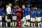 2nd December 2017, Goodison Park, Liverpool, England; EPL Premier League football, Everton versus Huddersfield Town; Everton skipper Wayne Rooney comes back onto the pitch at the final whistle to congratulate his team and thank the match officials