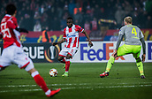 7th December 2017, Rajko Mitic Stadium, Belgrade, Serbia, UEFA Europa League football, Red Star Belgrade versus FC Cologne; Midfielder Guelor Kanga of Red Star Belgrade looks to cross  the ball