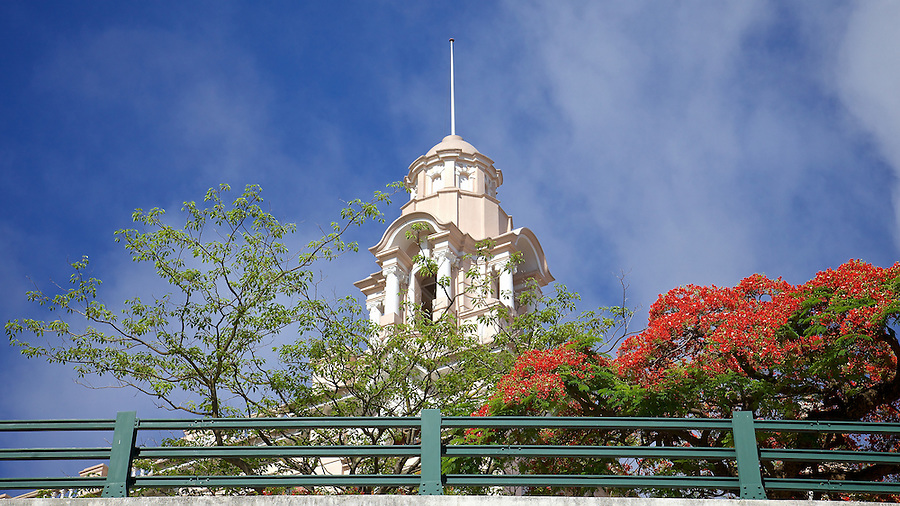 Tower on the Main Building, University of Hong Kong.