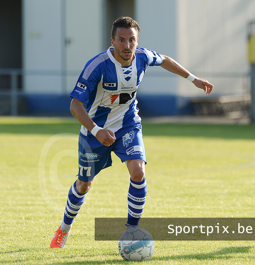 20140626 - LAUWE, BELGIUM : Gent Danijel Milicivic pictured during  a friendly match between FC Gullegem and Belgian first division soccer team KAA Gent, the second match for KAA Gent of the preparations for the 2014-2015 season, Tuesday 24 June 2014 in Lauwe. PHOTO DAVID CATRY