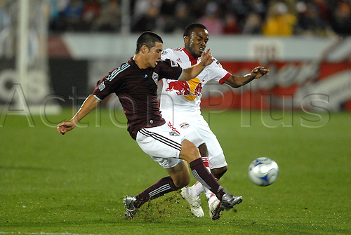 25th July 2009, Rapids midfielder Kosuke Kimura(left) battles for a ball with Dane Richards during 4 - 0 win over the Red Bulls at Dick's Sporting Goods Park in Commerce City, CO. (Photo By John Rivera/ActionPlus). UK LICENSES ONLY