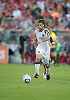 13 August 2011: Real Salt Lake midfielder Kyle Beckerman #5 in action during a game between Real Salt Lake and Toronto FC at BMO Field in Toronto.