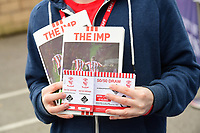A close up of Lincoln City's match day program, The Imp, and 50/50 draw tickets<br /> <br /> Photographer Chris Vaughan/CameraSport<br /> <br /> The EFL Sky Bet League Two - Lincoln City v Chesterfield - Saturday 7th October 2017 - Sincil Bank - Lincoln<br /> <br /> World Copyright &copy; 2017 CameraSport. All rights reserved. 43 Linden Ave. Countesthorpe. Leicester. England. LE8 5PG - Tel: +44 (0) 116 277 4147 - admin@camerasport.com - www.camerasport.com