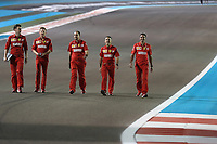 28th November 2019; Yas Marina Circuit, Abu Dhabi, United Arab Emirates; Formula 1 Abu Dhabi Grand Prix, arrivals day; Ferrari technical walk the track  - Editorial Use