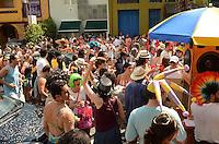 SAO PAULO, SP, 18 DE FEVEREIRO DE 2012 - BLOCO JOAO CAPOTA NA ALVES SP - Bloco João Capota na Alves desfilou pelas ruas da Vila Madalena, na tarde deste sábado. FOTO: ALEXANDRE MOREIRA - BRAZIL PHOTO PRESS