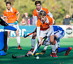 BLOEMENDAAL  - Roemer van der Veldt (Bldaal) , competitiewedstrijd junioren  landelijk  Bloemendaal JB1-Kampong JB1 (4-3) . COPYRIGHT KOEN SUYK