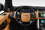 Car pictures of steering wheel view of a 2018 Land Rover Range Rover Autobiography Select Doors Door SUV
