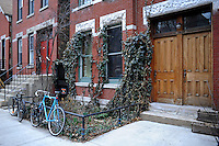 A home that has been designated as a landmark is seen in the East Village section of West Town, on the Near Northwest Side of Chicago, Illinois on March 23, 2009.  This landmarked home is typical in appearance and resembles many other homes found in many Chicago neighborhoods.