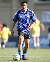 18 June 2005:  Brian Ching of Earthquakes warms up before the game against Real Salt Lake at Spartan Stadium in San Jose, California.    Earthquakes defeated Real Salt Lake, 3-0.   Mandatory Credit: Michael Pimentel / ISI