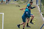 04.01.2019, Trainingsgelaende Randburg Football Club, Johannesburg, RSA, TL Werder Bremen Johannesburg Tag 02<br /> <br /> im Bild / picture shows <br /> <br /> Kraftsport am Morgen vor dem Training in Sueddafrika <br /> Fin Bartels (Werder Bremen #22)<br /> Philipp Bargfrede (Werder Bremen #44)<br /> Foto © nordphoto / Kokenge