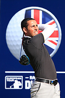 Carlos Pigem (ESP) on the 2nd tee during Round 3 of the Sky Sports British Masters at Walton Heath Golf Club in Tadworth, Surrey, England on Saturday 13th Oct 2018.<br /> Picture:  Thos Caffrey | Golffile