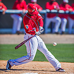 28 February 2016: Washington Nationals outfielder Michael Taylor in action during an inter-squad pre-season Spring Training game at Space Coast Stadium in Viera, Florida. Mandatory Credit: Ed Wolfstein Photo *** RAW (NEF) Image File Available ***