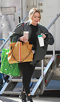 March 11,  2019  Hilary Duff shooting on location for the new season of Younger in New York March 11, 2019  <br /> CAP/MPI/RW<br /> &copy;RW/MPI/Capital Pictures