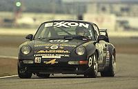 The #65 Porsche 911 Carerra RS Cup of Luigino Pagotto, Renato Mastropietro, Sam Brown, Kurt Thiel, and Vincenzo Polli races to a 28th place finish in the 24 Hours of Daytona, IMSA race, Daytona International Speedway, Daytona Beach , FL, February 4, 1996.  (Photo by Brian Cleary/www.bcpix.com)