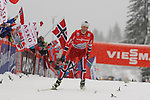 05/01/2014, Val Di Fiemme - 2014 Cross Country Ski World Cup Tour de ski <br /> Norway's Martin Johnsrud Sundby at the finish of the Final Climb pursuit race in Val Di Fiemme, Italy on 05/01/2014. Therese Johaug from Norway has won for the first time Tour de ski.