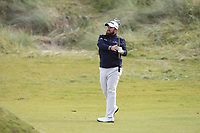 Shane Lowry (IRL) on the 3rd fairway during Round 2 of the Alfred Dunhill Links Championship 2019 at Kingbarns Golf CLub, Fife, Scotland. 27/09/2019.<br /> Picture Thos Caffrey / Golffile.ie<br /> <br /> All photo usage must carry mandatory copyright credit (© Golffile | Thos Caffrey)