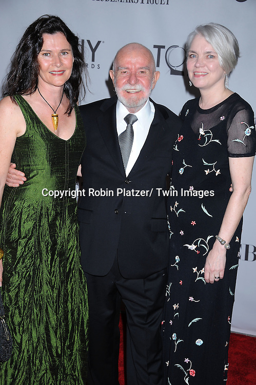 Athol Fugard and family attending the 65th Annual Tony Awards at The Beacon Theatre in New York City on June 12, 2011.