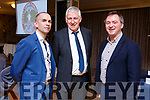 Attending the St Pats 25 year reunion of players, mentors, officers and supporters at the Rose Hotel on Saturday night. <br /> L to r: Kieran O&rsquo;Shea (Sponsor), Jimmy Mulligan (St PAts GAA Chairman) and Eamon Sayers.