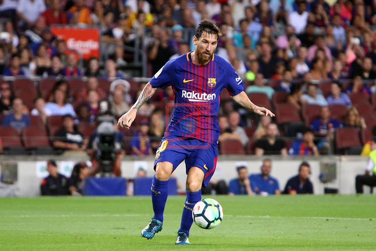 52e Trofeu Joan Gamper.<br /> FC Barcelona vs Chapecoense: 5-0.<br /> Lionel Messi.