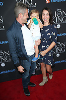 "05 August 2017 - Los Angeles, California - Sean Maguire, Tanya Flynn, Flynn Patrick Maguire. ""The Lion King"" Sing-Along Screening. Photo Credit: F. Sadou/AdMedia"
