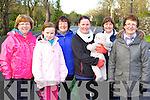 Angela Vermiglio, Michaela Lynch, Helen Foley, Maria Vermiglio, Mila Lynch, Teresa Griffin and Hannah Mai Harris all Killarney the Operation Transformation walk in Killarney on Saturday