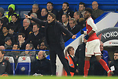 10th January 2018, Stamford Bridge, London, England; Carabao Cup football, semi final, 1st leg, Chelsea versus Arsenal; Chelsea Manager Antonio Conte