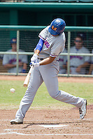 Midland RockHounds outfielder Matt Olson (21) swings the bat during the Texas League baseball game against the San Antonio Missions on June 28, 2015 at Nelson Wolff Stadium in San Antonio, Texas. The Missions defeated the RockHounds 7-2. (Andrew Woolley/Four Seam Images)