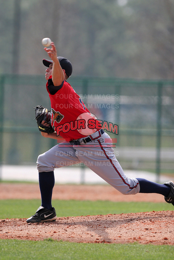 Atlanta Braves minor leaguer Jeff Locke during Spring Training at Disney's Wide World of Sports on March 14, 2007 in Orlando, Florida.  (Mike Janes/Four Seam Images)