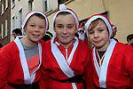 Shane O'Reilly Jack Brown Colin Caffrey at the Drogheda Christmas Bonanza santa parade<br /> Picture: Fran Caffrey www.newsfile.ie